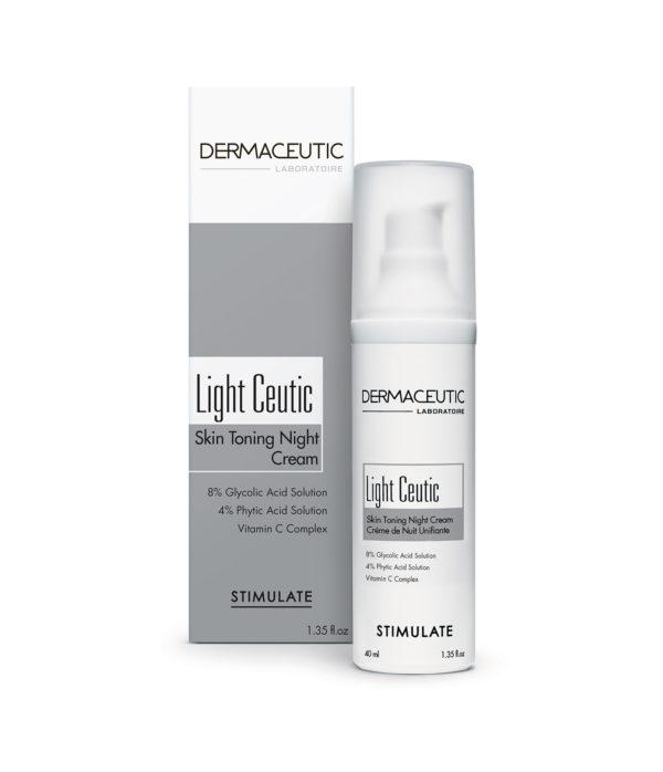 Light Ceutic Hidratante de Noche y Exfoliante | Dermaceutic España
